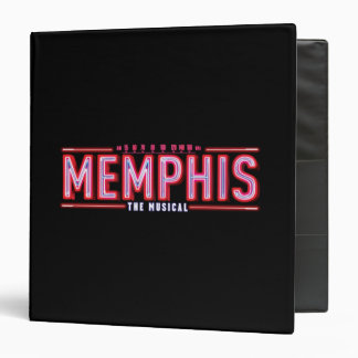 MEMPHIS - The Musical Logo 3 Ring Binders