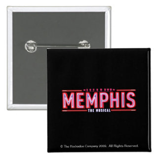 MEMPHIS - The Musical Logo 2 Inch Square Button