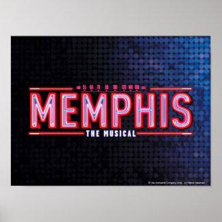 MEMPHIS - The Musical Logo Poster