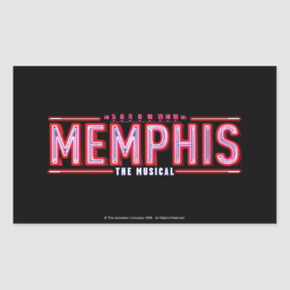 MEMPHIS - The Musical Logo Rectangle Stickers