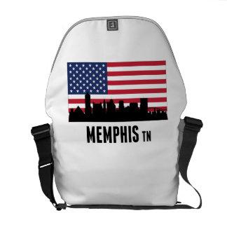 Memphis TN American Flag Courier Bag