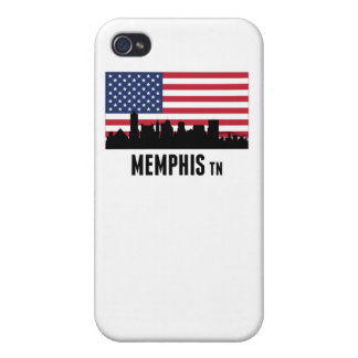 Memphis TN American Flag iPhone 4 Covers