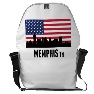 Memphis TN American Flag Messenger Bag