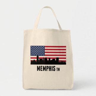 Memphis TN American Flag Tote Bag