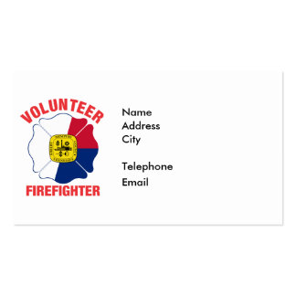Memphis, TN Flag Volunteer Firefighter Cross Double-Sided Standard Business Cards (Pack Of 100)