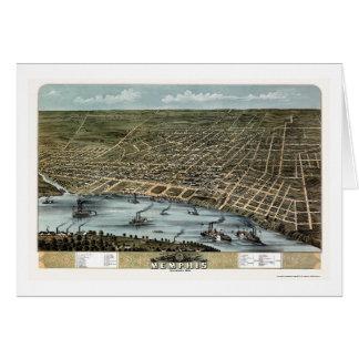 Memphis, TN Panoramic Map - 1870 Card