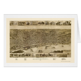Memphis, TN Panoramic Map - 1887 Card