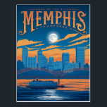 "Memphis, TN Postcard<br><div class=""desc"">Anderson Design Group is an award-winning illustration and design firm in Nashville,  Tennessee. Founder Joel Anderson directs a team of talented artists to create original poster art that looks like classic vintage advertising prints from the 1920s to the 1960s.</div>"