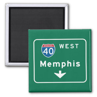 Memphis, TN Road Sign 2 Inch Square Magnet