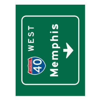 Memphis, TN Road Sign Postcard