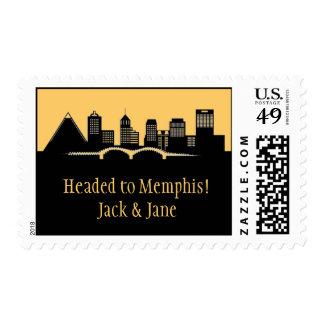 Memphis, TN Skyline Postage Stamp