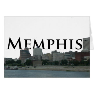 Memphis TN Skyline with Memphis the Sky Card