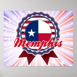 Memphis, TX Print