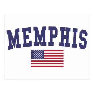 Memphis US Flag Postcard