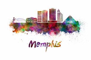Memphis Skyline Drinkware | Zazzle