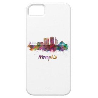 Memphis V2 skyline in watercolor iPhone SE/5/5s Case