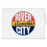 Memphis Vintage Label Greeting Card
