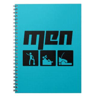 Men 3 spiral notebook