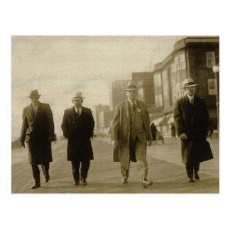 Men About Town Postcard