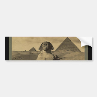 Men and Camels on the Paw of the Sphinx, Pyramids Bumper Sticker