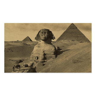 Men and Camels on the Paw of the Sphinx, Pyramids Double-Sided Standard Business Cards (Pack Of 100)