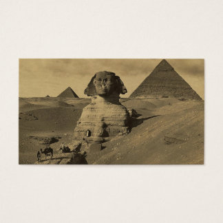 Men and Camels on the Paw of the Sphinx, Pyramids Business Card