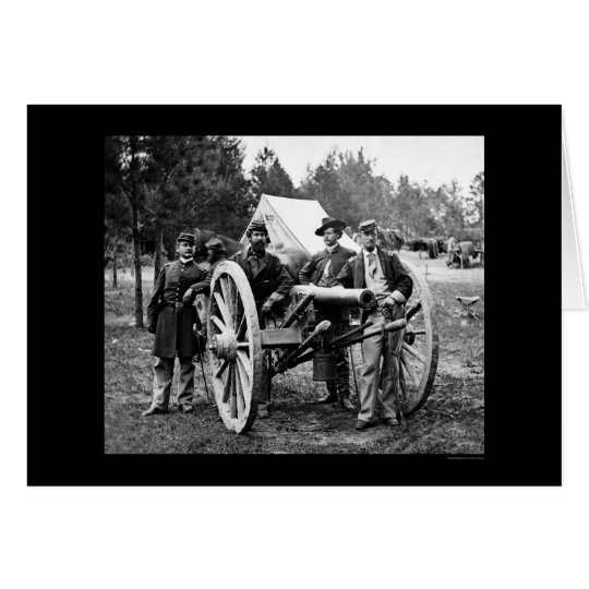 Men and Cannon at Fair Oaks, VA Encampment 1862 Card
