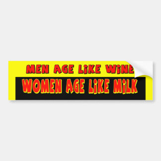 Men and Women Age Bumper Sticker Car Bumper Sticker
