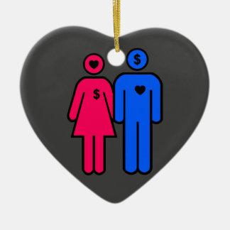 Men and Women Ceramic Ornament