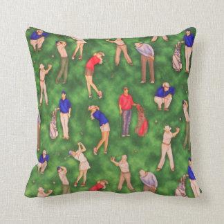Men and Women Golfers Golfing Throw Pillow