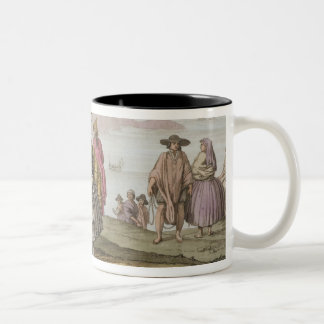 Men and women in elaborate costume, Chile, from 'L Two-Tone Coffee Mug