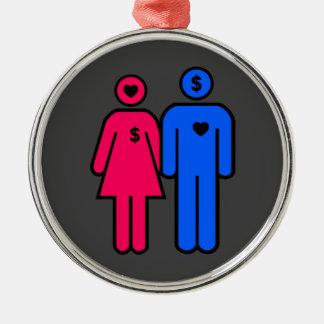 Men and Women Metal Ornament