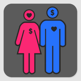 Men and Women Square Sticker