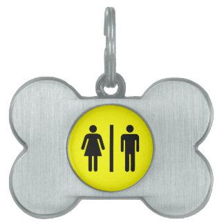Men and Women's Symbol Pet Name Tag