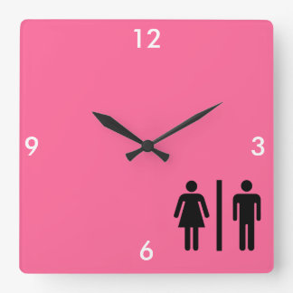 Men and Women's Symbol Square Wall Clock