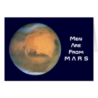 Men are from Mars - Women are from Venus Card