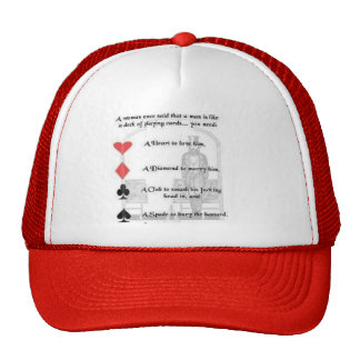 Men are like a deck of cards trucker hat
