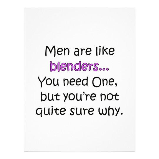 Men Are Like Blenders Flyer