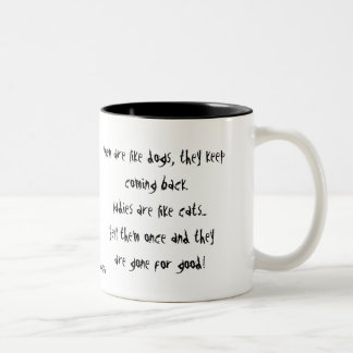 Men Are Like Dogs Two-Tone Coffee Mug