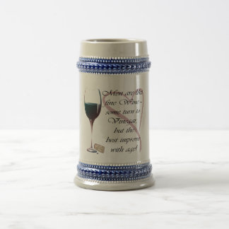 Men are like fine Wine Gifts Beer Stein