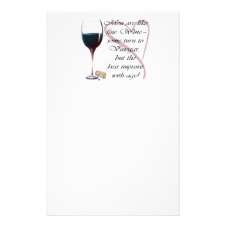 Men are like fine Wine Gifts Stationery Design