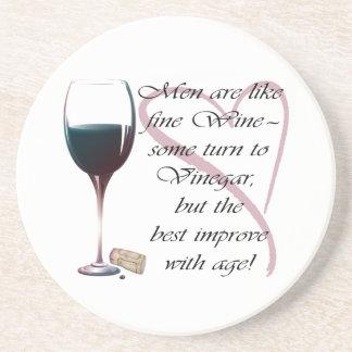Men are like fine Wine humorous gifts Coaster