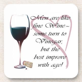 Men are like fine Wine humorous gifts Coasters