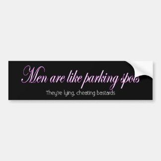 Men are like parking spots bumper sticker