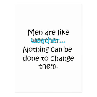 Men Are Like Weather Postcard