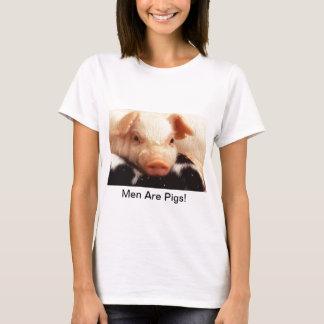 Men Are Pigs! Piglet Pig Face Snout T-Shirt