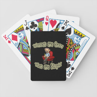 Men are Stupid black Bicycle Playing Cards