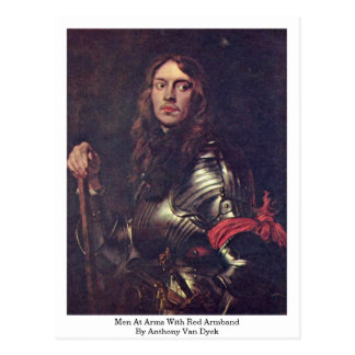 Men At Arms With Red Armband By Anthony Van Dyck Post Cards