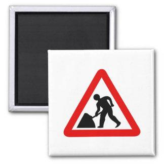 Men at Work 2 Inch Square Magnet