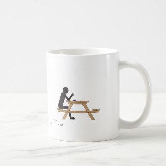 men at work, plain white mug